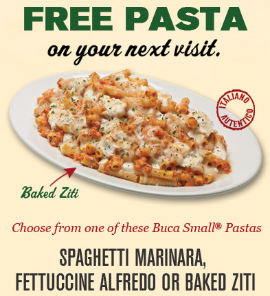 Free Pasta From Buca Di Beppo Eclub